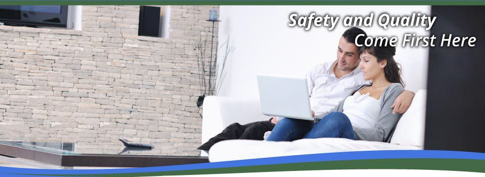Safety and Quality Come First Here | Couple on couch