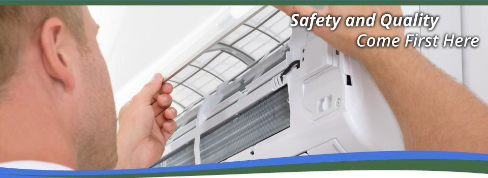 Safety and Quality Come First Here | Repairing A/C unit